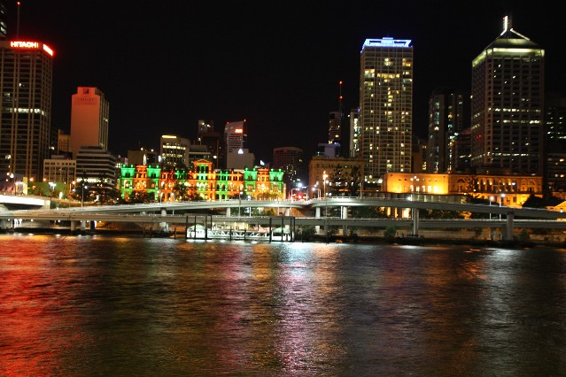 Brisbane City Centre at night