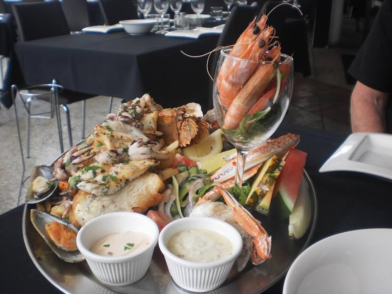Fresh seafood at Bugzies Seafood Restaurant
