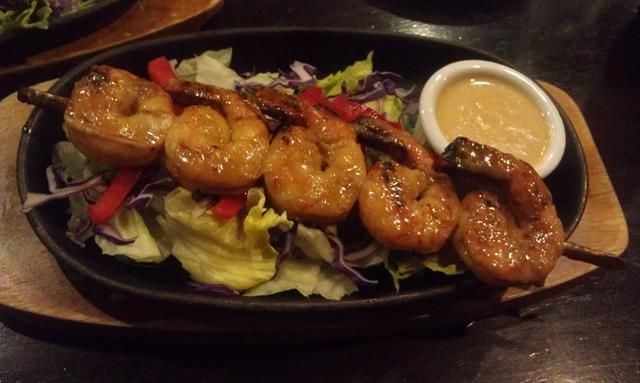 Prawn entree Squires Loft Steakhouse Robina