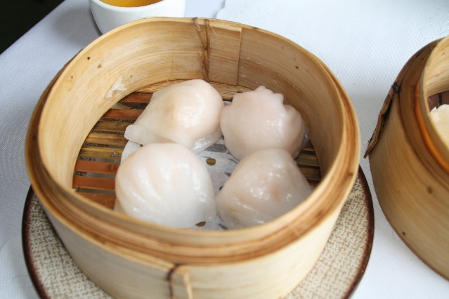 Sunfay steamed prawn dumplings yum cha
